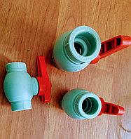 Пластиковый Шаровый Кран (с латунным шариком) 40мм Пр.Турция, фото 1