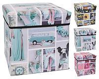 Коробка - пуф для хранения 30*30*30 см M05000120 К