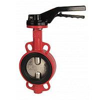 Затвор дисковый поворотный RUSHWORK 201 - Ду100 (PN16, Tmax 110°С, ручка-рычаг)