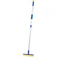 Щетка для мытья окон OfficeClean Professional, 25 см, вращающаяся телескопическая ручка.