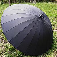 """Зонт-трость """"Парламент"""" черный, 24 спицы, фото 1"""
