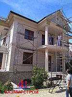 Монтаж панелей и декор элементов для фасада дома