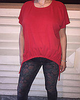 Красный летний блузон 50-60 размер Susar